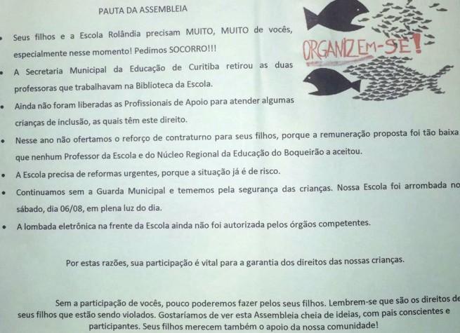 Fruet abandona escola no Boqueirão e pais e professores pedem socorro