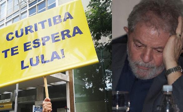 """""""Lula na cadeia"""", pedem manifestantes no Rio de Janeiro"""