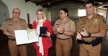 Cida Borghetti recebe medalha do Mérito Rodoviário